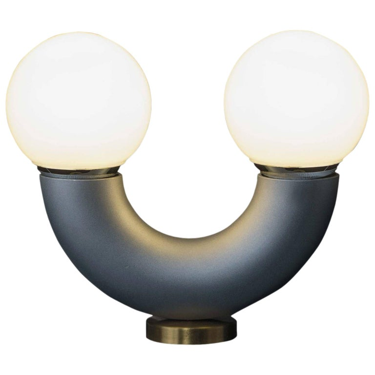 Haha Table Lamp, 21th Century Contemporary Modernist Aluminium Tube Anodized  For Sale