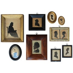 Collection of Nine Antique Silhouettes