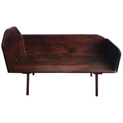 Really Cool Mahogany Vintage Cradle Made into a Cool Coffee or Center Table