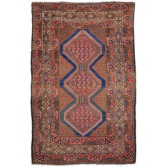 Antique Malayer Persian Rug with Modern Tribal Style
