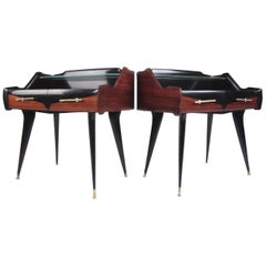 Pair Italian Modern End Tables by Paolo Buffa