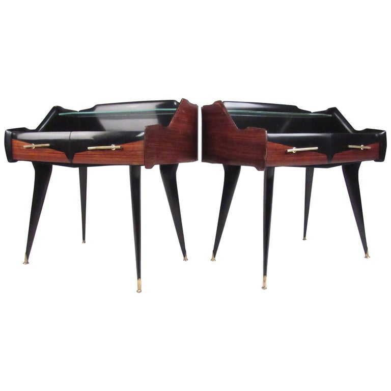 Pair Italian Modern End Tables by Paolo Buffa For Sale