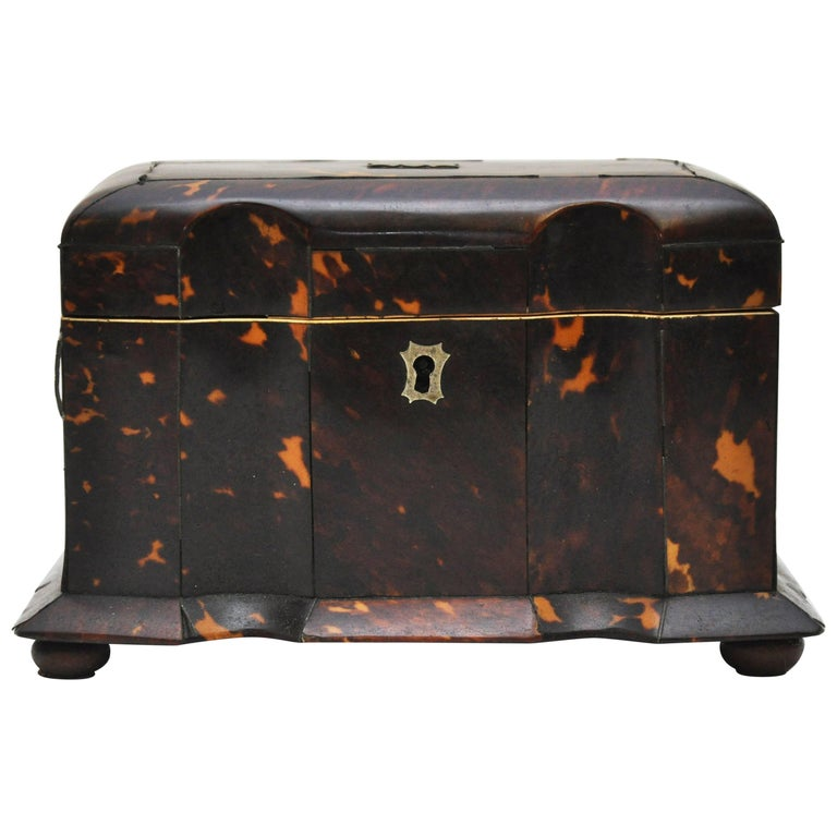 Tortoiseshell Tea Caddy 1