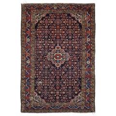 Antique Hamadan Persian Rug with Herati Design