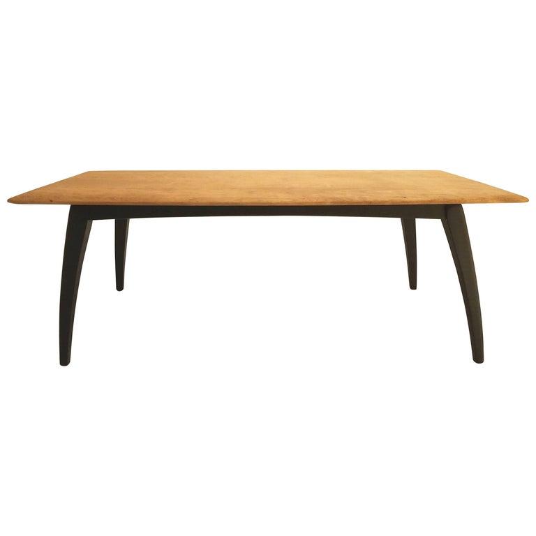 Mid-Century Modern Solid Wood Coffee Table
