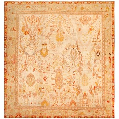 Ivory Antique Oushak Turkish Rug