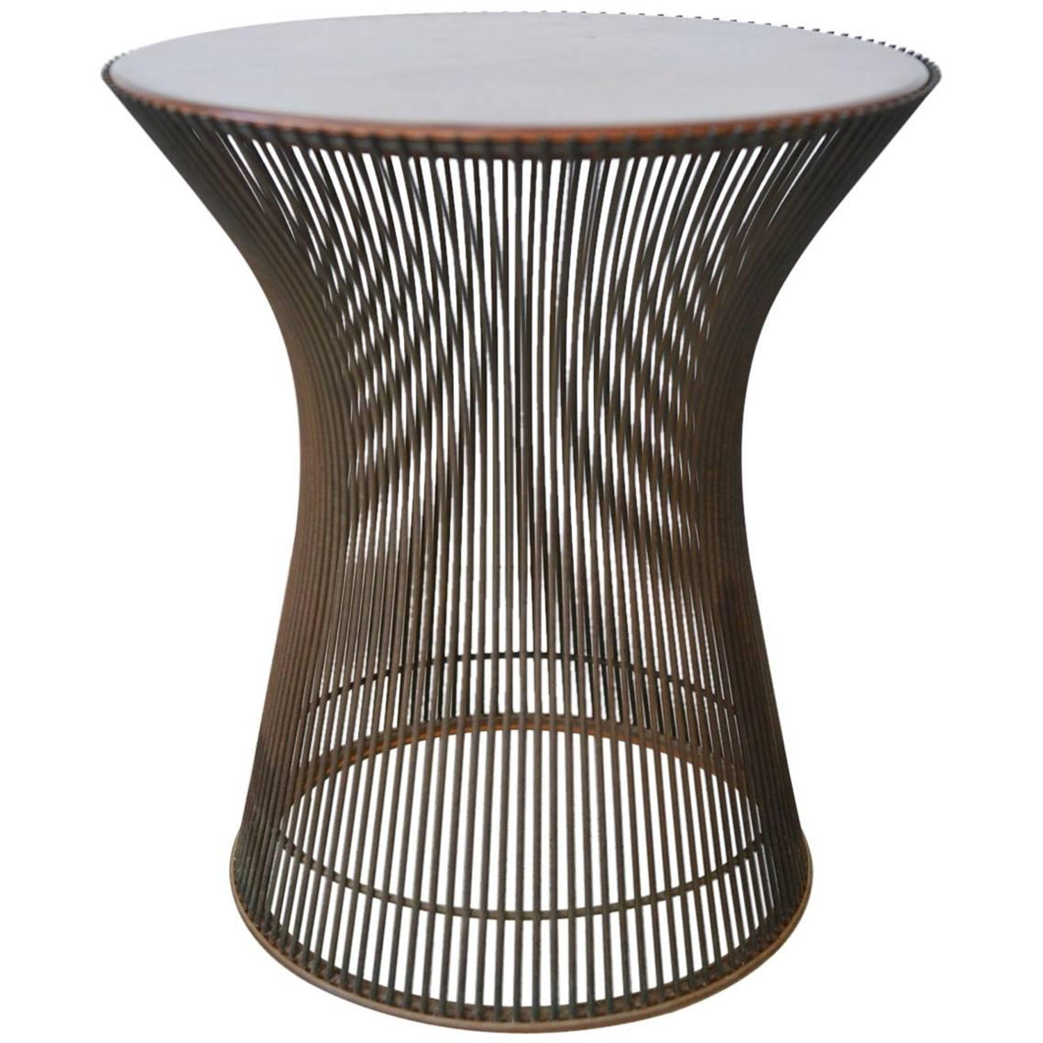 Warren Platner for Knoll Bronze and Rosewood Side Table circa