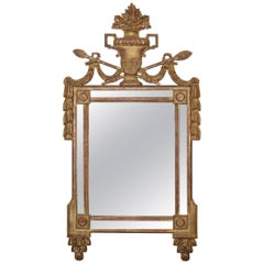 18th Century French Neoclassical Louis XVI Giltwood Mirror