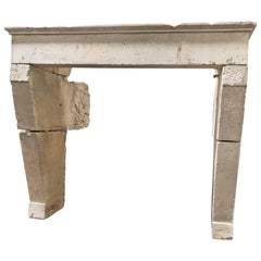 Antique Limestone Mantel c1720