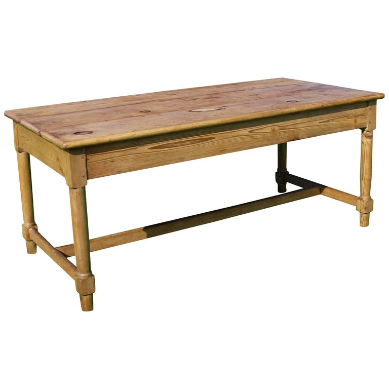 Antique Pine Farmhouse Refectory Dining Table