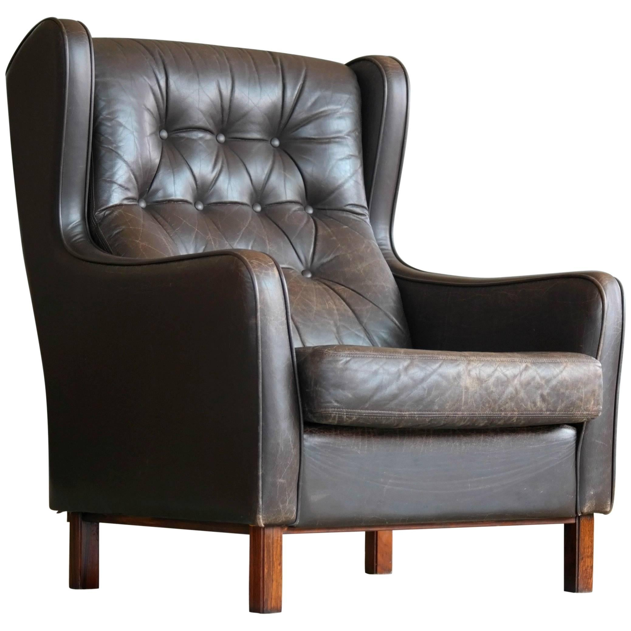 modern high back chairs for living room. brge mogensen style high back wing chair with tufted in espresso leather modern chairs for living room m