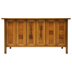 Tomlinson Mid-Century Pecan and Butternut Sideboard with Burl Myrtlewood Doors