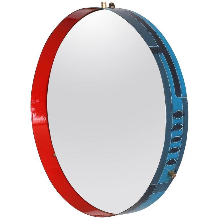 Italian Ceramic Metal Mirror 1