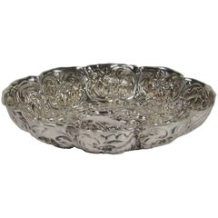 Antique William Comyns Repoussé Sterling Silver Candy Dish