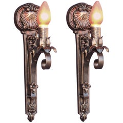 Moe Bridges Single Bulb Cast Iron Sconce