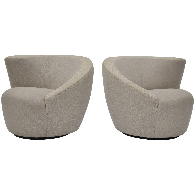 Nautilus Swivel Club Chairs By Vladimir Kagan