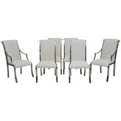 DIA Chrome and Brass Dining Chair, Set of Six