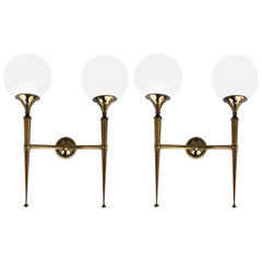 Pair of Sconces, Probably Retailed by Maison Jansen, circa 1970