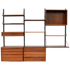 Cadovius Royal Wall Unit in Rosewood, Denmark, 1950s
