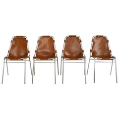 Set of Four Original Charlotte Perriand Les Arcs Chairs