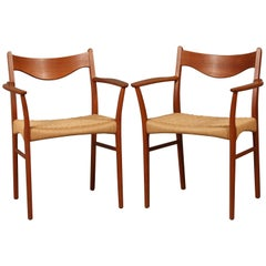 Set of Two Armchairs Designed by Arne Wahl Iversen, Model GS600