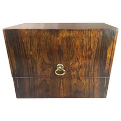 Rosewood Upright Canteen or Cutlery Box