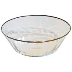S.A.L.I.R. Murano Glass Bowl with Gold Accent