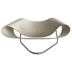 CL9 Ribbon Chair by Cesare Leonardi & Franca Stagi Firbreglass Color White