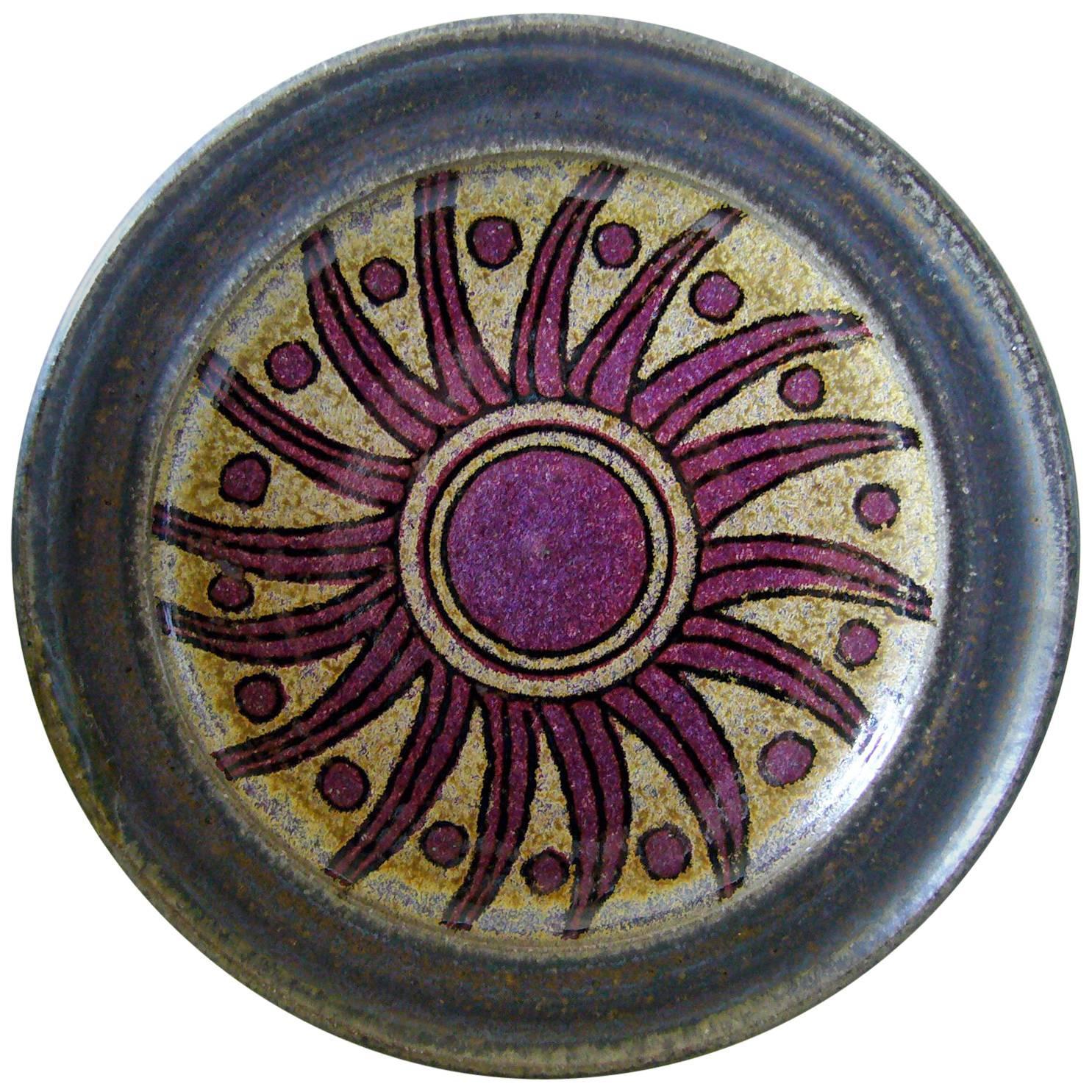 Raul Coronel California Studio Stoneware Sun Flower Charger Platter