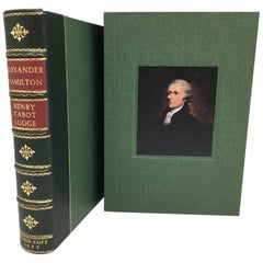 Alexander Hamilton by Henry Cabot Lodge, 1st Edition Signed by Lodge, 1899