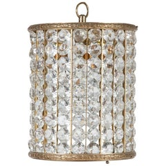 Crystal and Gilt Brass Hanging Light