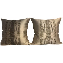 Decorative Cushions Hand Silver Thread Hand Embroidery Contemporary Design