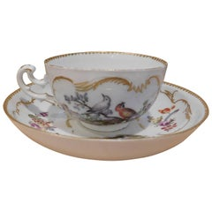 Antique Mid-18th Century Meissen Cup and Saucer