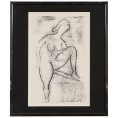Alfred Birdsey, Lithograph of a Female Nude