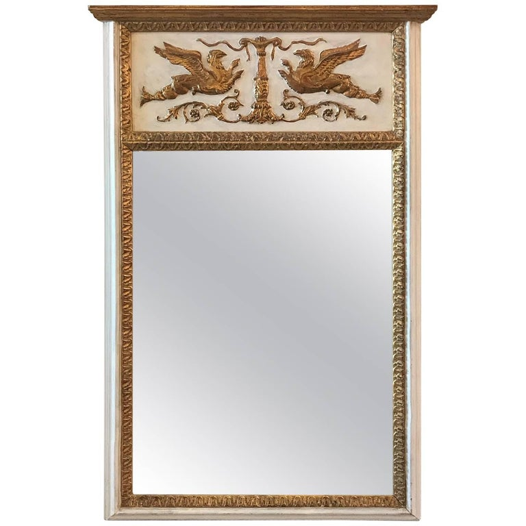 Parcel-Gilt Labarge Trumeau Mirror
