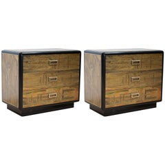 Pair of Bernhard Rohne Etched Brass Dressers