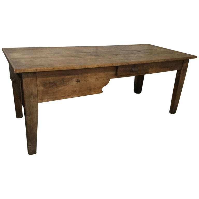 Wonderful rustic antique french farm table for sale at 1stdibs for Rustic farm tables for sale