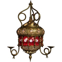 Moroccan Moorish Glass Lantern/Light