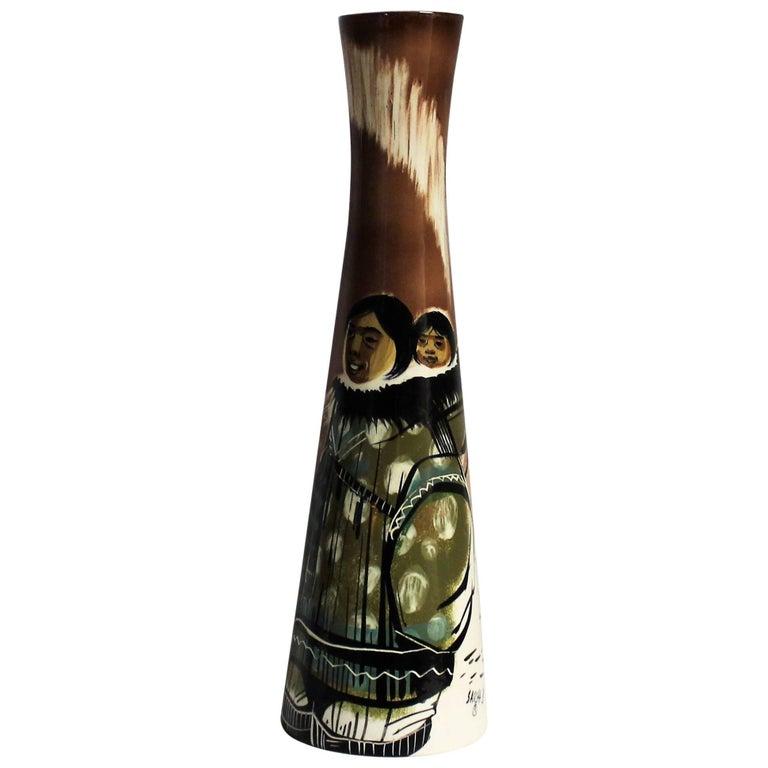 Sascha Brastoff Ceramic Eskimo Vase