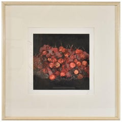 "Donald Sultan Print, ""Cherries"" Signed and Numbered 51/100, 1988"