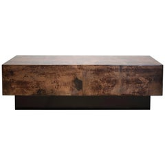 Aldo Tura Goatskin Cocktail Coffee Table