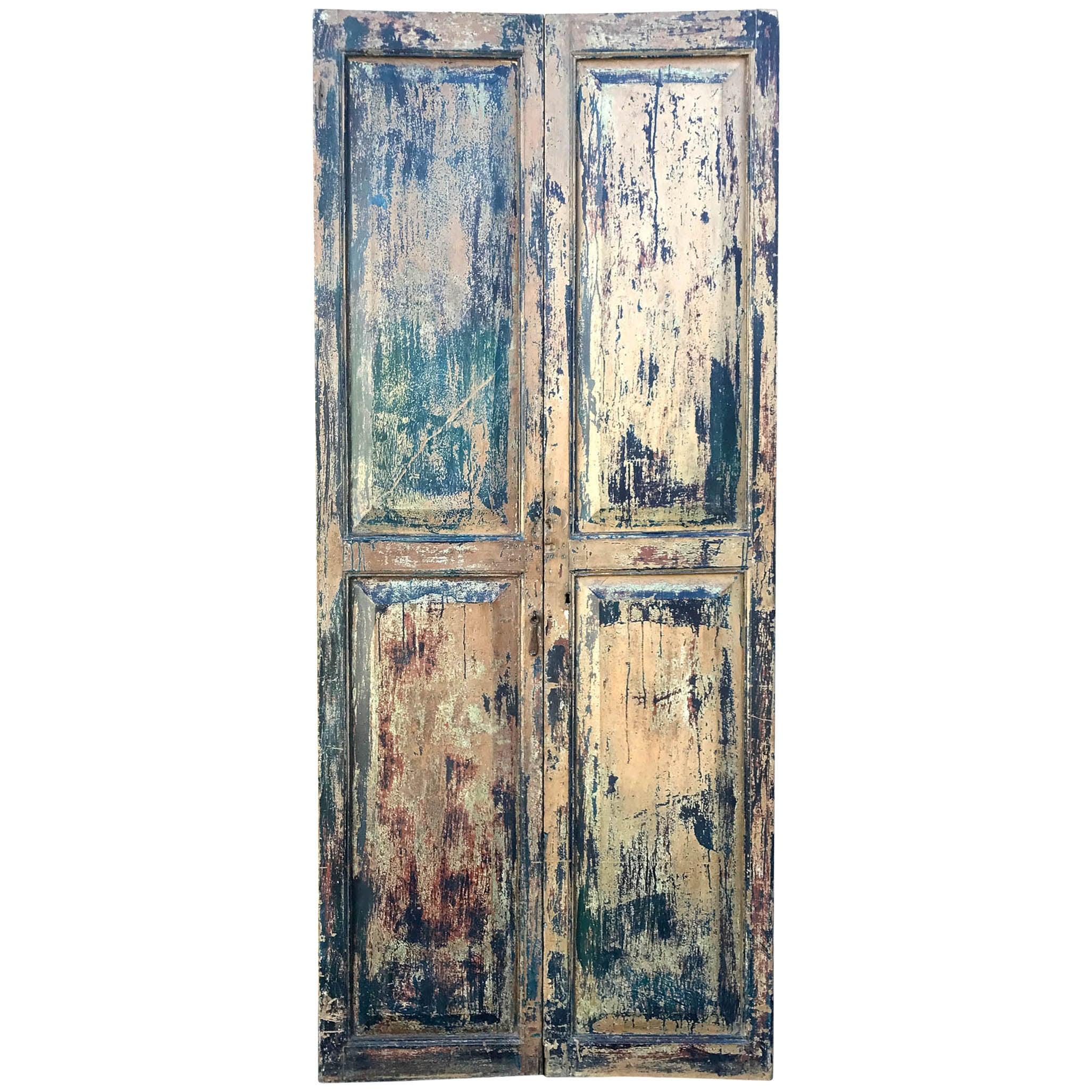 Pair of 19th Century Painted Doors