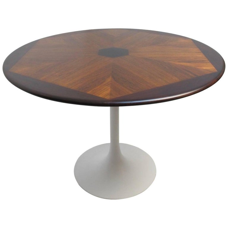 Mid Century Saarinen Style Rosewood Dining Table At 1stdibs