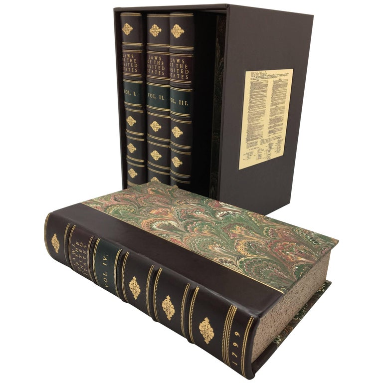 Laws of the United States, First Edition, Four-Volume Set, 1796-1799