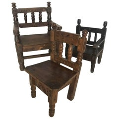 Antique Guatemalan Children's Chairs
