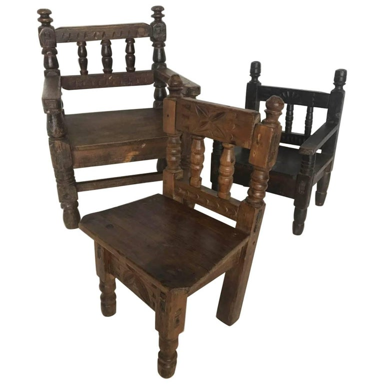 Antique Guatemalan Children's Chairs For Sale - Antique Guatemalan Children's Chairs For Sale At 1stdibs