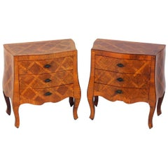 Pair of Curvaceous Italian Nightstands or End Tables