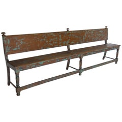 19th Century Bench with Traces of Paint