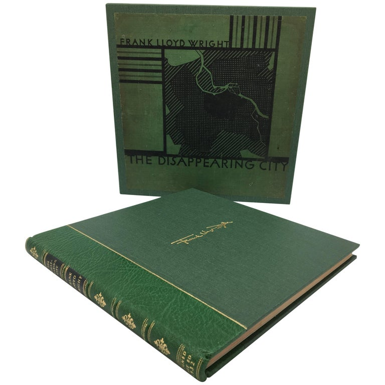 Disappearing City by Frank Lloyd Wright, Signed 1st Edition, 1st State, 1932 For Sale