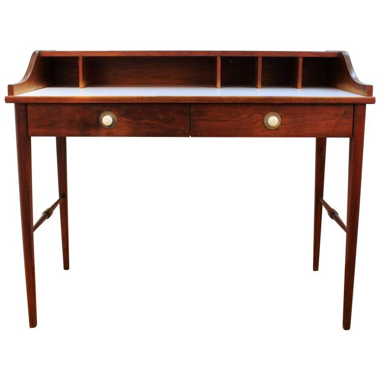 Mid-Century Teak Writing Desk with White Top